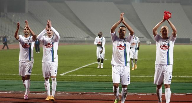 Rize'de Beşiktaş galibiyeti sevinci