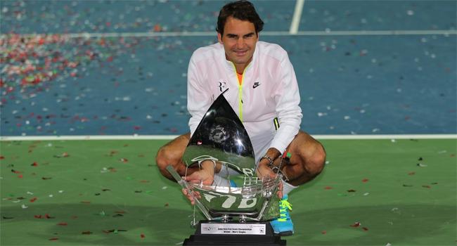 Dubai'de şampiyon Federer