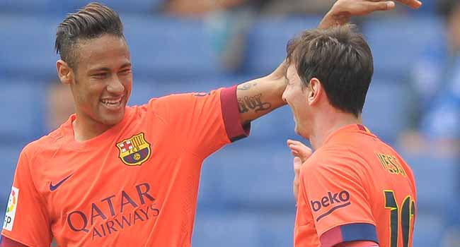 Messi ve Neymar'a 25 dakika yetti!