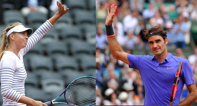 Sharapova ve Federer üst turda!
