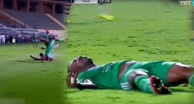 Yeşil sahada feci sakatlık!