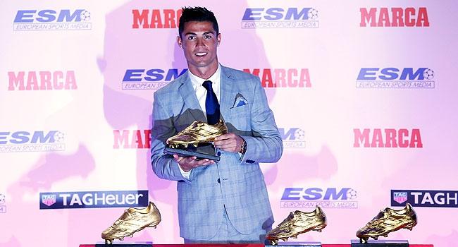 """Ronaldo'ya 4. """"Altın Ayakkabı"""""""