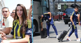 Fenerbahçe kafilesi Üsküp'te