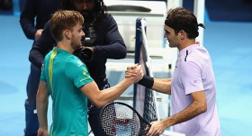 Federer'i deviren Goffin, finale yükseldi