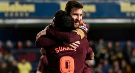 Barça'yı Suarez ve Messi güldürdü