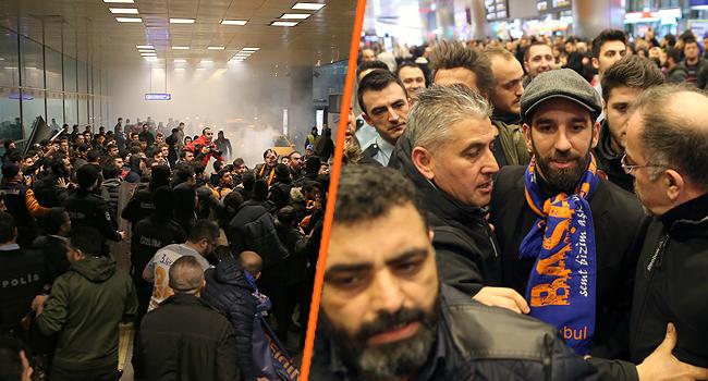 Arda Turan`ın İstanbul`a gelişinde izdiham!