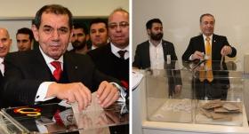 Özbek ve Cengiz oylarını kullandı
