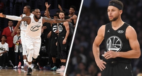 LeBron James: 148 Stephen Curry: 145