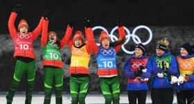 Biatlon kadınlarda altın Belarus'a gitti