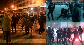 Holiganlara müdahale eden bir polis öldü