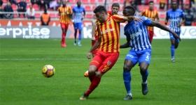 Zorlu maçta 3 puan Kayserispor'un