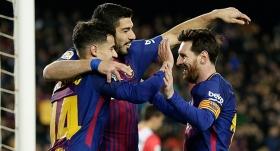Barcelona'dan Girona'ya yarım düzine gol