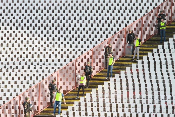 Kızılyıldız-Partizan derbisinde gergin anlar