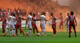 Samsunsporlu futbolculardan hakeme tepki