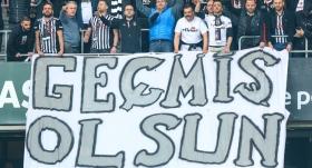 Beşiktaş tribünlerinden Güneş'e sevgi seli
