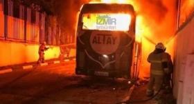 Altay'ın takım otobüsü yandı!