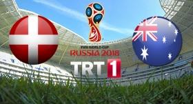 Danimarka - Avustralya maçı TRT 1'de