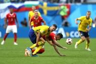 İsveç-İsviçre maçından yansıyan kareler