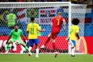 Brezilya-Belçika maçından yansıyan kareler