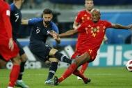 Fransa-Belçika maçından yansıyan kareler