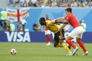 Belçika-İngiltere maçından  yansıyan kareler