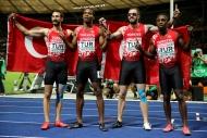 Türk Milli Takımından 4x100de tarihi başarı