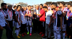 Hatayspor, şampiyonluk kupasını aldı