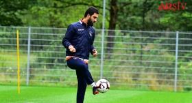Başakşehir'de Arda Turan antrenmana çıktı
