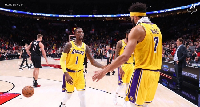 Lakers 16 maç sonra Trail Blazers ı yendi - TRT Spor - Türkiye`nin ... 9e5bfa9d9