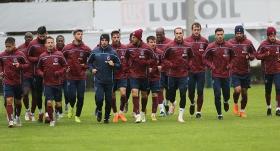 Trabzonspor, Fenerbahçe maçı öncesi basına kapalı çalışıyor