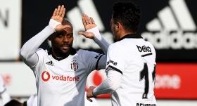 Beşiktaş hazırlık maçında galip