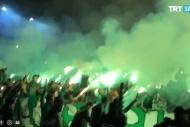 Konyaspor taraftarından Kocamana coşkulu karşılama