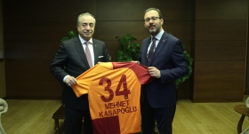 Bakan Kasapoğlu, Mustafa Cengiz'i kabul etti