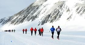 Antarktika buz maratonuna ev sahipliği yaptı