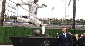 Beckham'ın heykeli dikildi