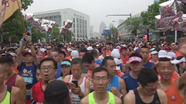 Şangay Yarı Maratonu koşuldu
