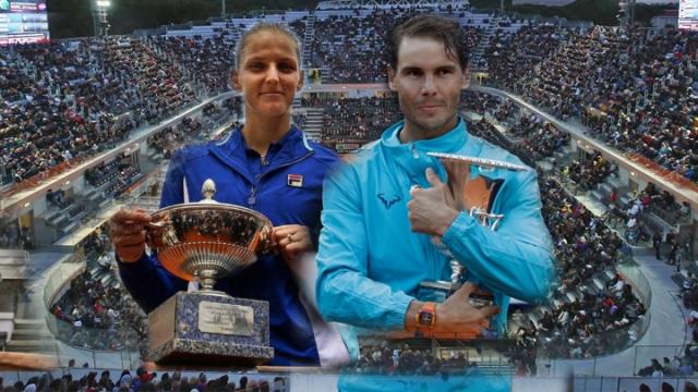 Roma'da Pliskova ve Nadal kupayı kaldırdı
