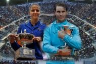 Romada Pliskova ve Nadal kupayı kaldırdı