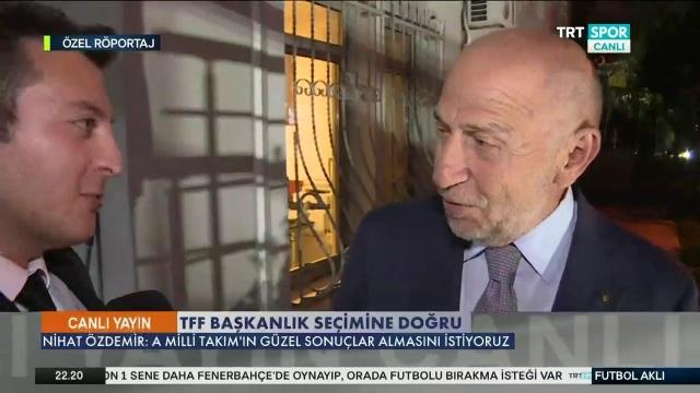 Nihat Özdemir TRTSPOR'a konuştu