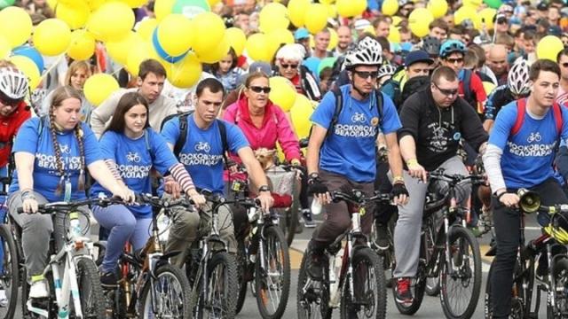 Moskova'da 40 bin kişilik bisiklet festivali
