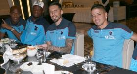 Trabzonsporlu futbolcular iftar yemeğinde buluştu