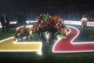 Galatasarayda şampiyonluk kupası coşkusu