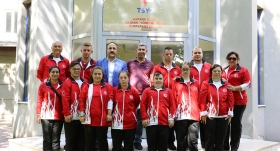 Özel Sporcular'ın TSYD Ankara Şubesi ziyareti