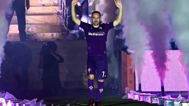 Franck Ribery taraftarla buluştu
