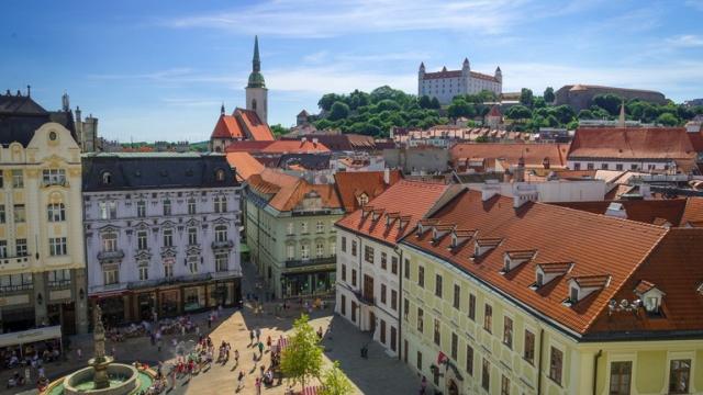 TRT Spor ekibinin Bratislava izlenimleri