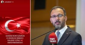 Bakan Kasapoğlu'ndan da Cenk Şahin'e destek