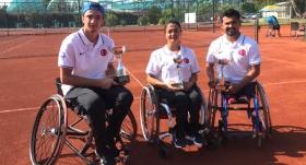 Milli tenisçiler şampiyonluğa ulaştı