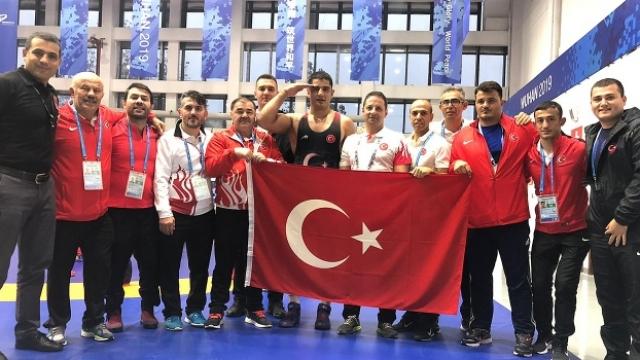 Taha Akgül, Askeri Olimpiyat Oyunları'nda şampiyon