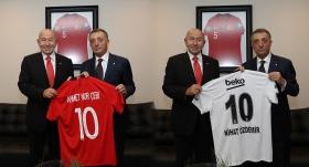Beşiktaş Başkanı Çebi, TFF Başkanı Özdemir'i ziyaret etti