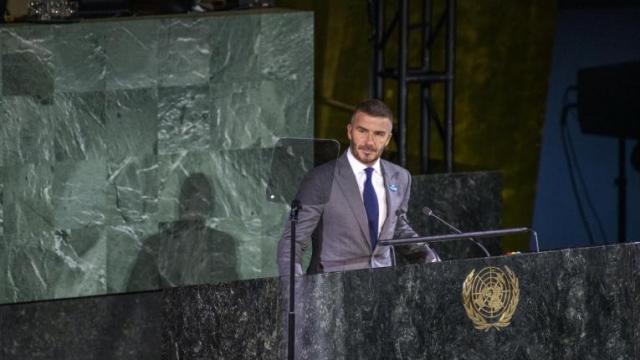 David Beckham çocuklar için BM'de konuştu